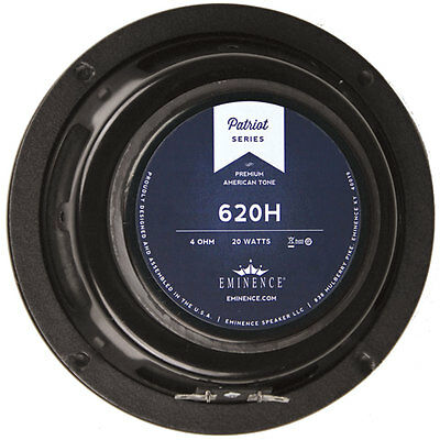 "Eminence Patriot 620H 6-1/2"" Hemp Cone Guitar Speaker"