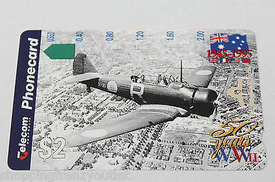 New Mint condition rare Telecom Wirraway Aircraft  phonecard unused #102,W