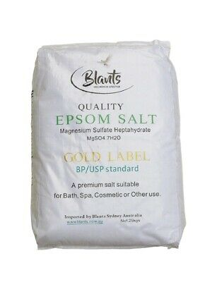 25kg Epsom Salt - Magnesium Sulphate - Pharmaceutical Gold Label Bath Salts