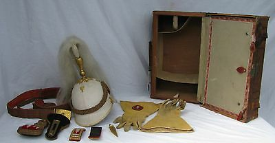Antique Fraternal Uniform Suitcase Knights of Pythias With Dress Gear