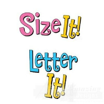 Amazing Designs Letter It ! & Size IT Combo