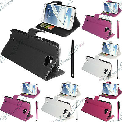 Housses Etui Coque Portefeuille Carte Support Video Samsung Galaxy Note 2 N7100