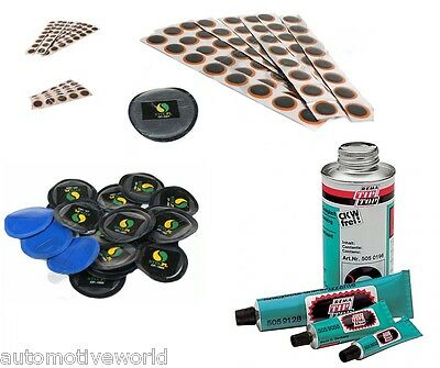 Puncture Repair Patches Rema Tip Top Vulcanizing Glue Tyre Tube Bike Tractor Car