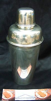 RARE SPECTACULAR ART DECO AGE TIFFANY SOLID STERLING 925 ExLARGE COCKTAIL SHAKER