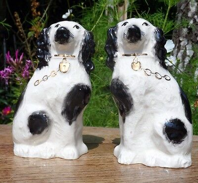 antique staffordshire dogs shabby chic country house style