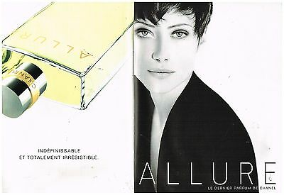 "Publicité Advertising 1997 (2 pages) Le Parfum ""Allure"" par Chanel"