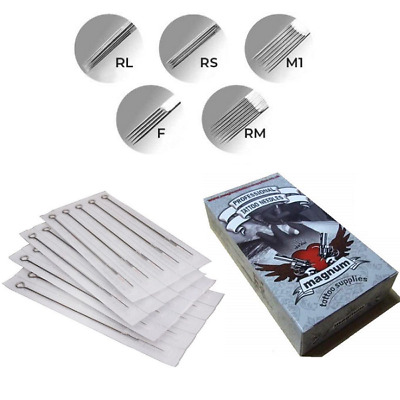 MTS Professional Tattoo Needles -High Quality Precision- RL RS M1 F RM -10 25 50