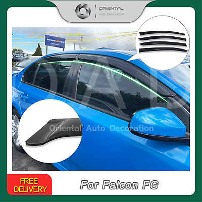 Premium Weathershield Weather Shields Window Visor Falcon Firemont FG 08-18 4pcs