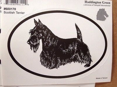 "Lot Of 6 Scottish Terrier Oval Stickers 3 1/2""X5"""