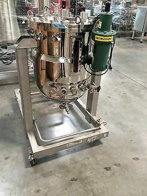130L Pilot Bioreactor System By Applikon Stainless Steel Jacketed Tank and Skid