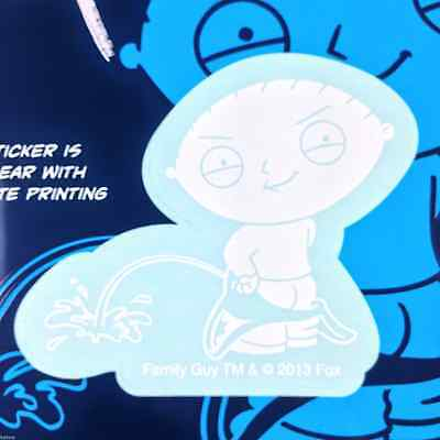 """Family Guy Stewie Griffin Peeing Car Window Sticker Decal Family 2 1/2"""""""