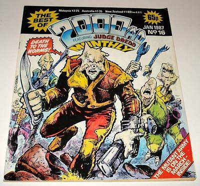 The Best of 2000ad Featuring JUDGE DREDD Monthly Comic Magazine # 16   Jan 1987