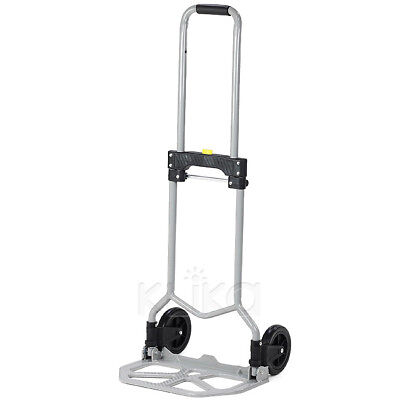 New 70Kg Compact Folding Lifter Hand Truck Trolley Luggage Cart Portable Wheel