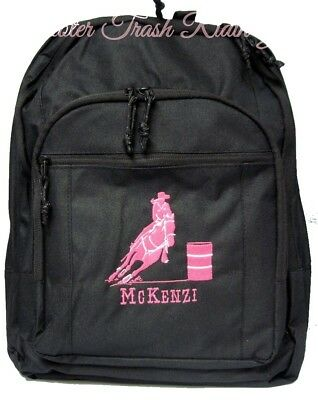 Personalized Barrel Racing Racer Backpack horse rodeo western monogram NEW