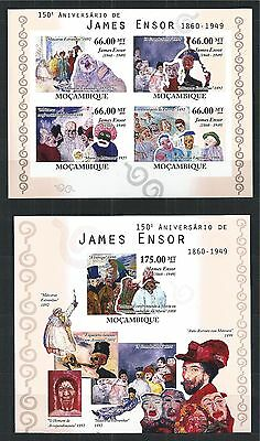Mozambique Mosambik 2010 Block Mini Sheet Set Imperf James Ensor Painting Kunst