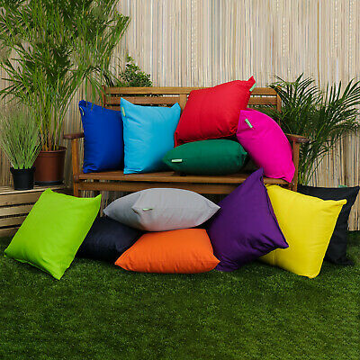 Water Resistant Garden Cushion Furniture Cane Filled Cushions Seat Bench Outdoor
