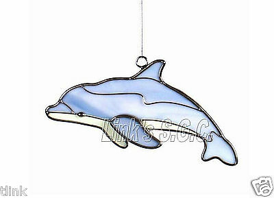 Stained Glass Dolphin Sun Catcher Ornament