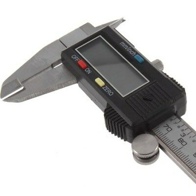 """Electronic Digital Caliper 6"""" LCD Display Stainless Steel Carrying Case +-0.001"""""""