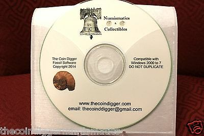 EASY 2 USE TheCoinDiggers Fossil Collection Computer Software Inventory