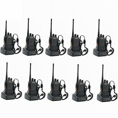 10x Baofeng BF-888s UHF CTCSS/ CDCSS Amateurfunk Handfunkgerät Walkie-Talkie