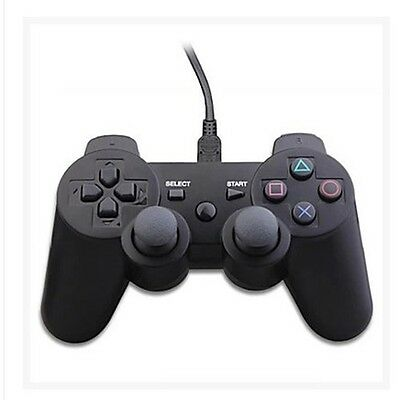 USB Wired Controller Dual - Shock 3 For PS3 PC PS2 Support Vibration