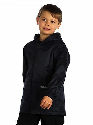 Kids Waterproof Jacket  Regatta Stormbreak Over Raincoat For School Nursery