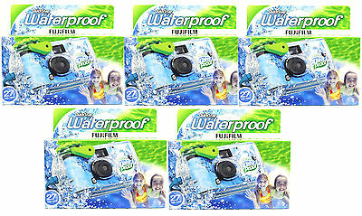5 Pcs Fuji QuickSnap Waterproof Underwater One Time Use Disposable Cameras