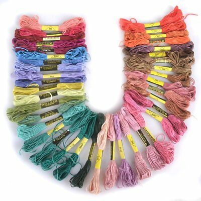 36 Mix Colors Cross Stitch Cotton Sewing Skeins Embroidery Thread Floss Kit