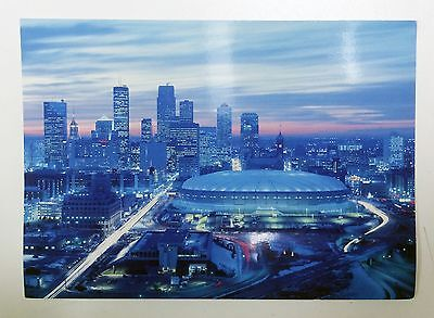 Hhh Metrodome Postcard 4X6 Full Color Cancelled Superbowl January 25, 1992