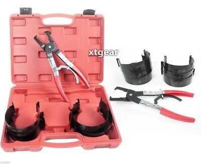 6 pc Piston Ring Compressor with ratcheting plier For truck car