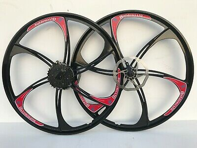 26 inch Magnesium Alloy bike wheels front & rear with cassette mountain bike