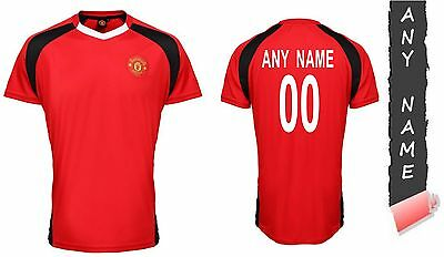 Personalised Manchester United Fc Official Performance T Shirt Unisex Top Gift