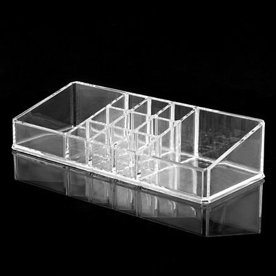 Clear Acrylic Cosmetic Organiser Lipstick Brush Holder Makeup Storage Case MJ