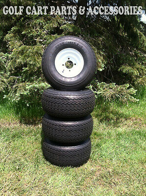 Set Of (4) NEW Golf Cart Tires & Wheels 18x8.50-8  EZGO, Club Car, Yamaha Cars