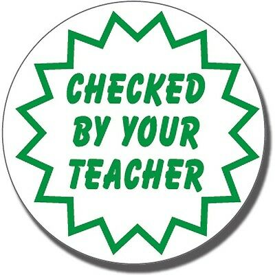 ST23 Checked By Your Teacher Pre-inked Marking School Stamper Primary Teaching