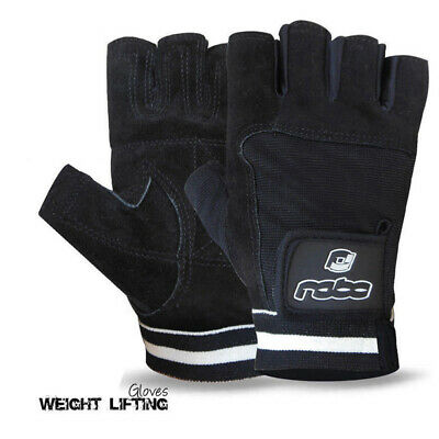Weight Lifting Suede Leather Gym Fitness Body Building Training Gloves