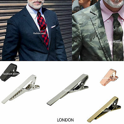 Mens Tie Clip Skinny Tie Clip Pin Silver, Gold, Gun Metal, 5cm 4cm  2cm Wedding