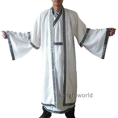 Custom Make Shaolin Wudang Taoist Long Robe Tai chi Suit Wushu Kung fu Uniforms