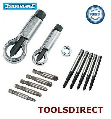 12Pc Easy Out Damaged Screw Stud Bolt Remover Puller Extractor Nut Splitter Set