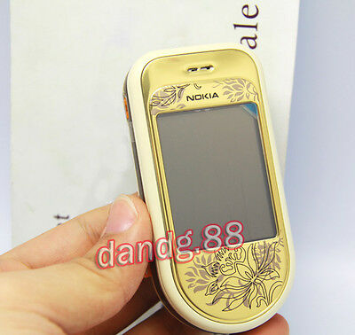 Original NOKIA 7370 Mobile Cell Phone GSM Triband Refurbished Swivel Gold, Gift