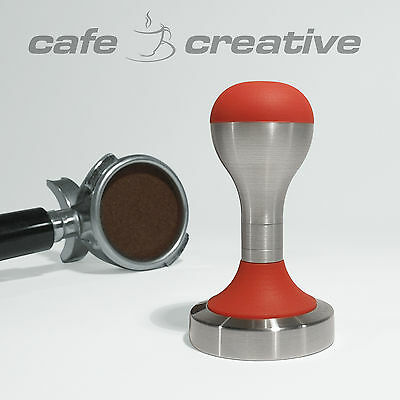 Coffee Tamper, Stainless Steel, 57mm, Guineau Red, CINO