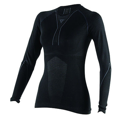 Dainese D-Core Dry Ladies Tee LS Black/Grey for Motorcycle Riding Winter Warm