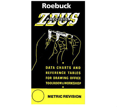 Zeus Precision Book Data Charts & Reference Tables Engineer Workshop Guide - Roe