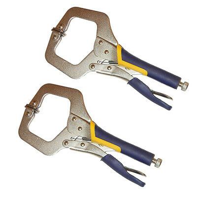 "2PC HEAVY DUTY 6"" C CLAMP, Large Opening Quality Locking Plier Vice Welding Grip"