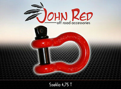 Heavy Duty 4.75 Tonne Rated 4x4 Bow Shackle JOHN RED