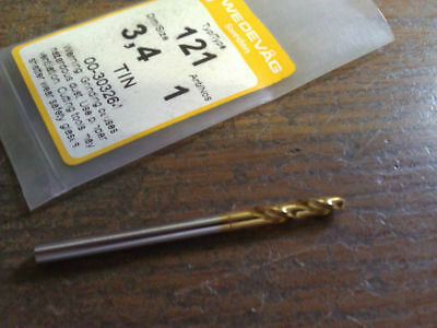 ".1339"" 3.4mm HSCO TiN STUB DRILL"