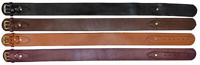 """Holster Belt Smooth Leather  2-1/2"""" Wide Ammo Cartridge Leather Western Gun"""