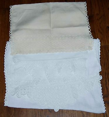 VINTAGE CROCHET LACE TABLE RUNNERS