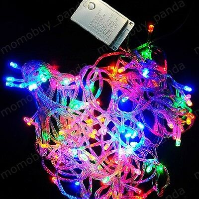32.8FT 10M 100 LED Multi Color Light String For Decoration Christmas Xmas party