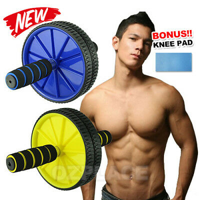 Ab Wheel Roller Abs Exercise Abdominal Trainer Fitness Ladies Men Toning